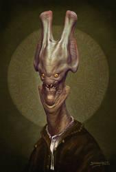 Alien Astronomer. by Kaduflyer