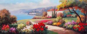 Lakeside Monastery - Arteet by Arteet