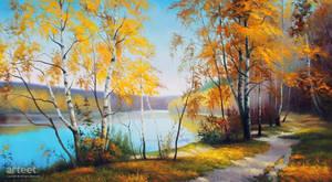 Sunlit Maple Trail - Arteet by Arteet