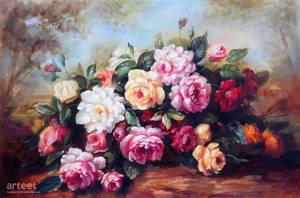 Peonies And Mixed Flowers - Arteet by Arteet