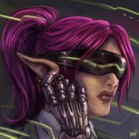 Shadowrun OC : Swift by Daegann
