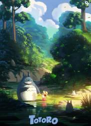 Totoro by Liang-Xing