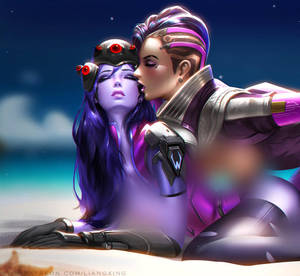 sombra X widowmaker by Liang-Xing