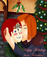 Holiday Kisses by Wolf--Shadow