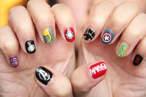 Avengers Nails by xcalixax