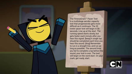 master writes the fitness gram pacer test by FUNImation2002