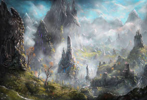 Dragonrock Valley by Nrekkvan