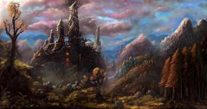 Castle Firegaze by Nrekkvan