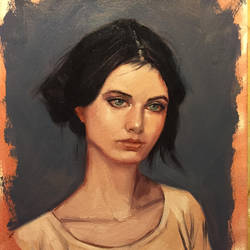 Female Study in Oil by JosephSANABRIA