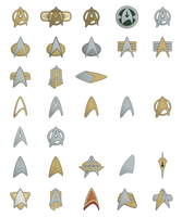 Starfleet Combadges and Insignias by Rekkert