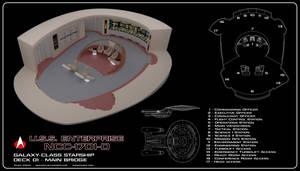 USS Enterprise-D Bridge - Season 7 Version Cutaway by Rekkert