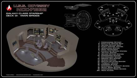 USS Odyssey Bridge Cutaway by Rekkert