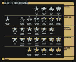 Alternate 24th Century Starfleet Rank Insignias by Rekkert