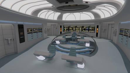 USS Galaxy Bridge - 2365 by Rekkert