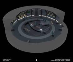 USS Galaxy Battle Bridge - 2365 Cutaway by Rekkert