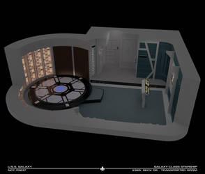 USS Galaxy Transporter Room Cutaway by Rekkert