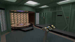 USS Enterprise-D Transporter Room by Rekkert