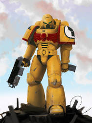 Imperial Fists Battle Brother by NoddyBomb