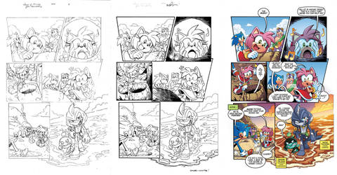 Sonic 260 page 4 pencils to colors by chibi-jen-hen