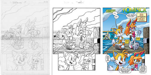 Sonic 281 Page 1 Pencils to Colors by chibi-jen-hen