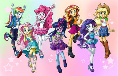 The Equestria Girls by chibi-jen-hen