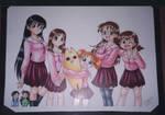 Otakon poster 3, Azumanga Cast by chibi-jen-hen