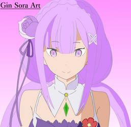 Re Zero : Emilia by Gin-Sora