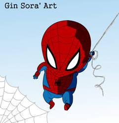 Chibi Spider-Man colors progress by Gin-Sora