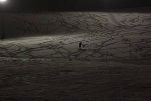 Skiing alone? by Kalabint