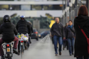 Traffic by Foot and Bike by Kalabint