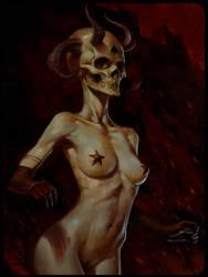 Skull Girl by zaidoigres