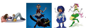 Multiple Artist Collab Sailor Ilustrators by uialwen