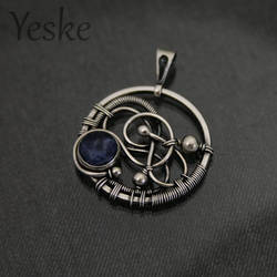 170625 | Wire-work pendant with sodalite by YeskeCrafts