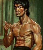 Bruce Lee by ArtofOkan