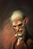 Weird Creepy Vampire by ArtofOkan