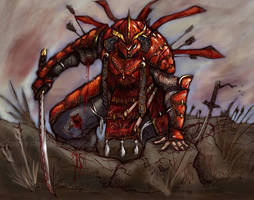 Crimson Samurai by MarcWasHere