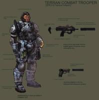 Terran Marine Trooper by MarcWasHere