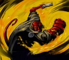 Hellboy - by MarcWasHere