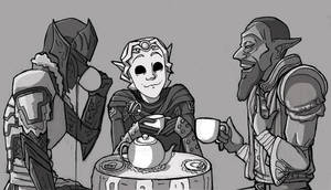 Tea time with Neloth by Litill-Alfrinn