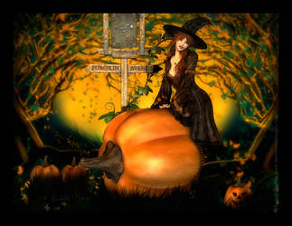 Pumpkin Avenue by RavenMoonDesigns