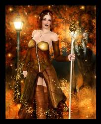 Elf Queen of Autumn by RavenMoonDesigns