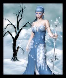 Elf Queen of Winter by RavenMoonDesigns