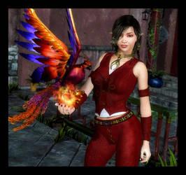 Umeko and the Phoenix by RavenMoonDesigns