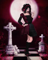 A Sweet Gothic Rose by RavenMoonDesigns