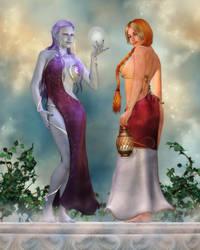 Celestial Sisters by RavenMoonDesigns