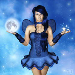 Holding the Moon and Stars by RavenMoonDesigns