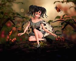 Li'l Butterfly Faerie by RavenMoonDesigns