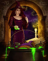 Witchcraft a'Brewing by RavenMoonDesigns