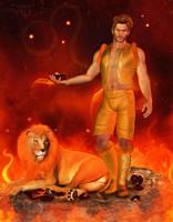 Zodiac Series: Leo ~ Lion by RavenMoonDesigns