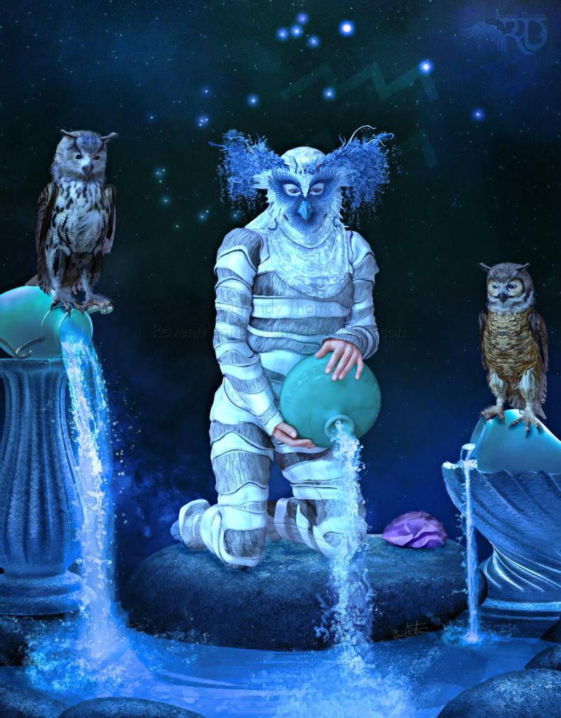 Zodiac Series: Aquarius ~ Water Bearer by RavenMoonDesigns